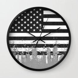 American Flag Urban Wall Clock