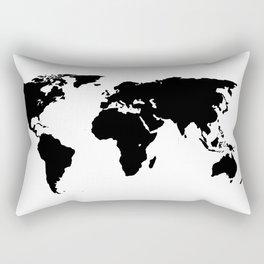 World Outline Rectangular Pillow