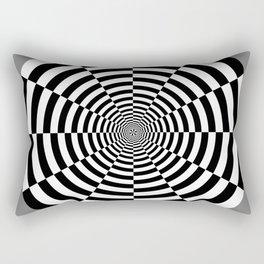 Sliced Circle Target Rectangular Pillow