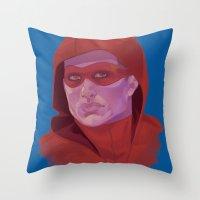 arsenal Throw Pillows featuring Roy Harper by Sbrasi