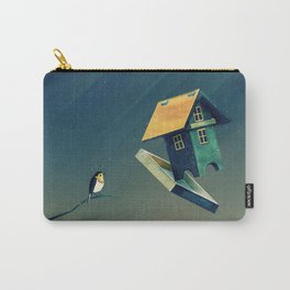 Flying Bird...house Carry-All Pouch