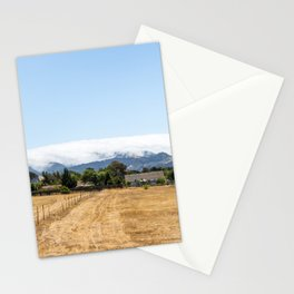 Clouds sleeping on the mountain in California Stationery Cards