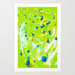paint blobs and bubbles Art Print