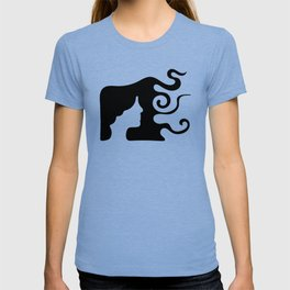 Woman with Long Wavy Hair T-shirt