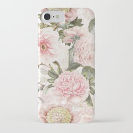 Vintage & Shabby Chic - Antique Pink Peony Flowers Garden iPhone Case
