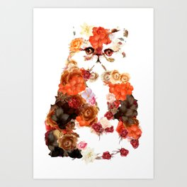 Portrait cute little kitten t-shirts Art Print