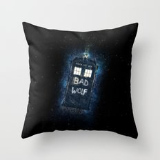 Bad Wolf TARDIS Throw Pillow