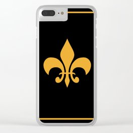 Gold And Black Clear iPhone Case