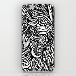 Black and White Abstract Design iPhone Skin