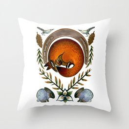 The Fox Lay Dying Throw Pillow