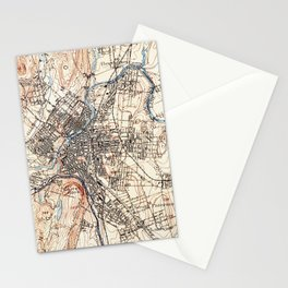 Vintage Map of Paterson NJ (1897) Stationery Cards