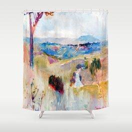 Charles Conder Dandenongs from Heidelberg Shower Curtain