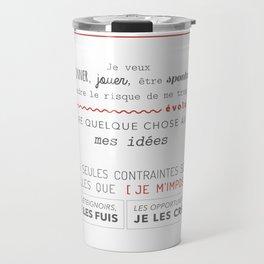 LE MANIFESTE Travel Mug