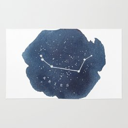 aries constellation zodiac Rug