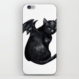 the black cat iPhone Skin