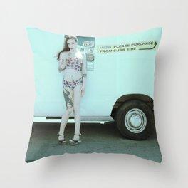Ice Cream Popcicle Chola Throw Pillow