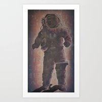 spaceman Art Prints featuring Spaceman by B.D. White