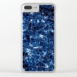 Blue stone with small shells Clear iPhone Case
