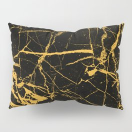 Orange Marble - Abstract, textured, marble pattern Pillow Sham