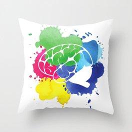 School Psychologist with Brain Throw Pillow