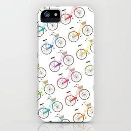 Rainbow Bicycles iPhone Case
