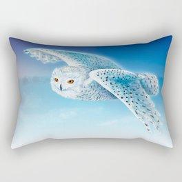 Flying Snowy Owl Rectangular Pillow