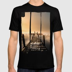 I rest here... Mens Fitted Tee MEDIUM Black