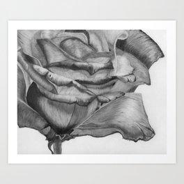 OPEN UP IN BLACK & WHITE Art Print