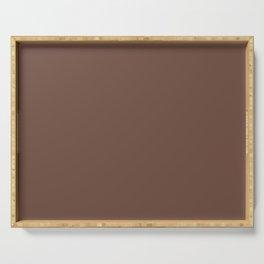 Behr Brown Velvet N160-7 - Dark Brown Earth Tone Solid Color Serving Tray
