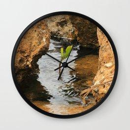 Sapling in the Ocean Wall Clock