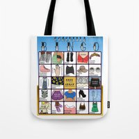 coachella Tote Bags featuring Coachella BINGO Board by Highly Anticipated