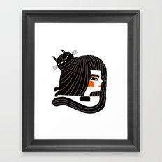 CAT HAIR Framed Art Print