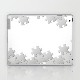 Puzzle white Laptop & iPad Skin