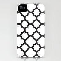 Black Quatrefoil Slim Case iPhone (4, 4s)
