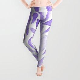 Watercolor artistic drops - lilac Leggings