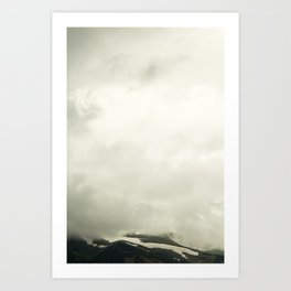 Mountain in the Clouds Art Print