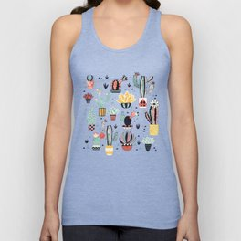 Cacti in a Flower Pot Unisex Tank Top