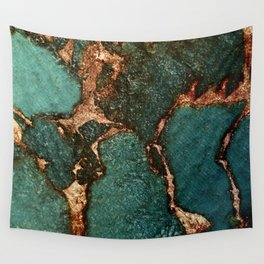IZZIPIXX - EMERALD AND GOLD Wall Tapestry