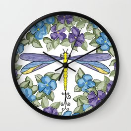 Dragonfly & Impatiens Wall Clock