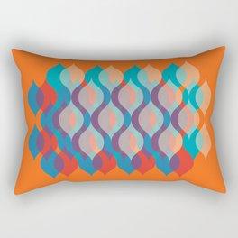 Ogee orgy orange Rectangular Pillow