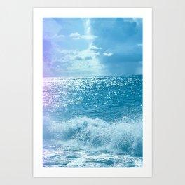 Montauk Crashing Waves_ Vertical Art Print