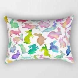 Watercolour Bunnies Rectangular Pillow
