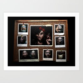 Snow White and 'The Gang' Art Print