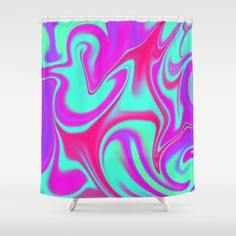 Mad Hatter Color Melt Tyedye Shower Curtain