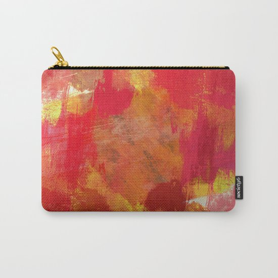 Fight Fire With Fire - Textured Metallic Abstract in red, white, black, orange and yellow Carry-All Pouch
