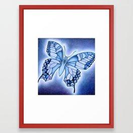 Indigo Butterfly Framed Art Print