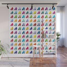 Rainbow Roller Skatin' Wall Mural