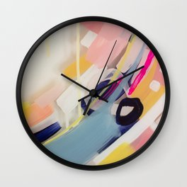 Those summer Days #1 Abstract on perspex by Jen Sievers Wall Clock