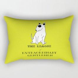 The League of Extraordinary Gentlemen Bull Terrier Art Print Wall Decoration Wall Design Graphic Rectangular Pillow