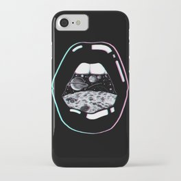 Space Lips Black iPhone Case